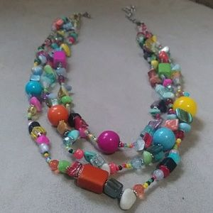 Glass~Shell~Colorful handmade necklace